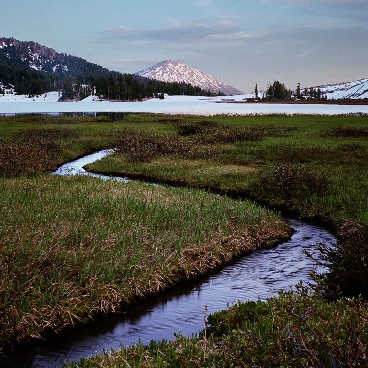 Mount Bachelor and Green Lake